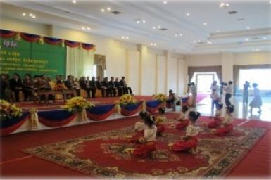 Cambodian children celebrated the International Children's Day