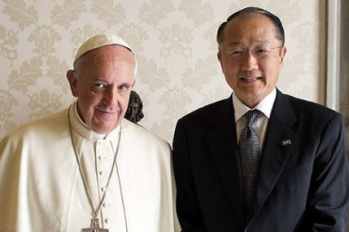 Pope and World Bank chief discuss joint action on poverty