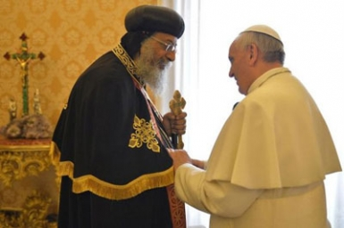 Pope Francis to Pope Tawadros: ecumenism of blood unites us