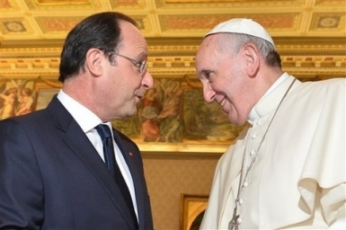 Pope Francis and French President discuss shared concerns