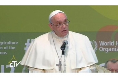 Pope Francis addresses FAO nutrition conference