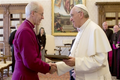 Pope Francis receives Archbishop of Canterbury