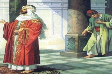 I tell you, when this man went down to his house, he had been set right with God: Saturday 3rd of Lent (Mar. 14th)