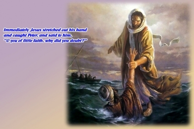 ``Lord, save me!``: Gospel by pictures of Sunday 19th (A) in Ordinary Time (Aug. 10, 2014)