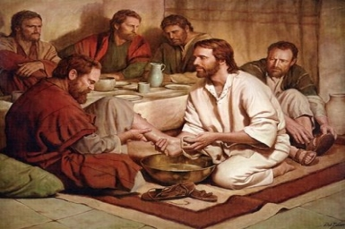 If I, then, your Lord and Master, have washed your feet, you also must wash one another`s feet: Holy Thursday (Lord`s Supper)