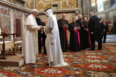 Muslim leader says pope is model of what religious leader should be