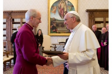 Pope Francis and Archbishop Welby discuss ways of working for unity