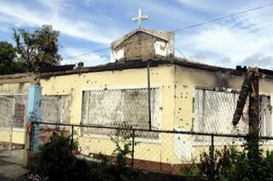 Muslims help rebuild Catholic church in Zamboanga