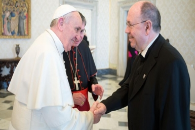 Pope Francis meets head of German Evangelical Church