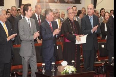 Cardinal Sandri attends inauguration of University of Madaba in Jordan