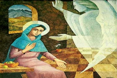 ``The angel came to her and said, Rejoice, full of grace, the Lord is with you``: Immaculate Conception (Dec 8, 2015)