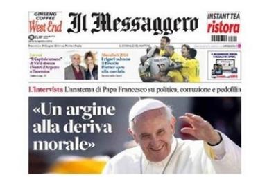Pope Francis: Il Messaggero interview