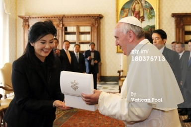 Pope Francis meets with Prime Minister of Thailand