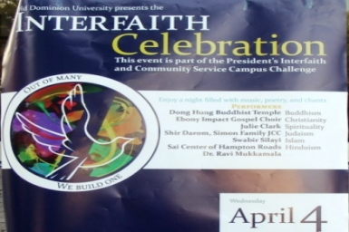 Interfaith Celebration at ODU (4 April 2012)