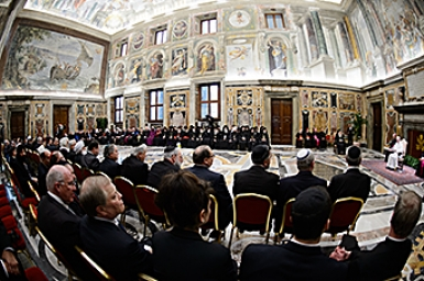 Pope Francis: discourse to representatives of the Churches, Ecclesial Communities and other religions