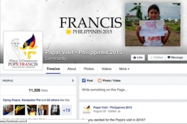 Filipino Catholics flocking to social media dedicated to pope`s visit