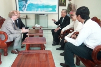 The Canadian Ambassador visit the Cardinal John Baptist Pham Minh Man