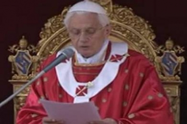Full Text: Pope Benedict`s Palm Sunday Homily