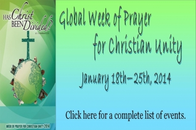 Resources for The Week of Prayer for Christian Unity and throughout the year 2014 (3)