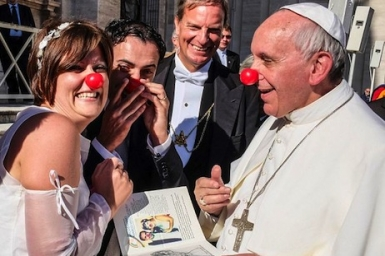 Pope Francis shows his funny side