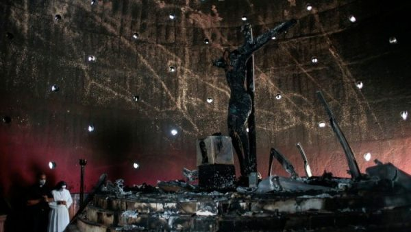 Crucifix in Managua cathedral torched in 'hatred of the Church'