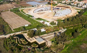 Shrine of 'Abdu'l-Bahá: Concrete bases for garden berms completed