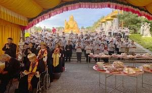 Taipei Caodai Congegation Attended Weixin Sheng Jlao`s Gratification Ritual in Nantou, Taiwan