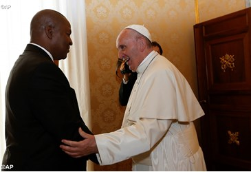 Pope Francis meets President of Central African Republic