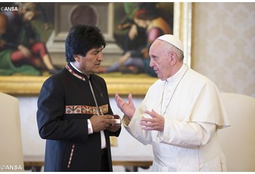 Pope Francis meets with President of Bolivia