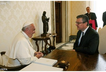 Pope Francis receives Prime Minister of Croatia