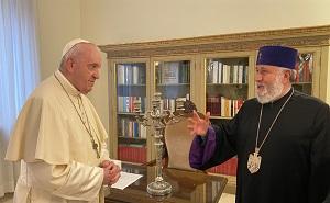 Papa Francesco incontra il Patriarca Karekin II