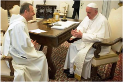 Pope Francis meets with Brother Alois of the Taizé Community