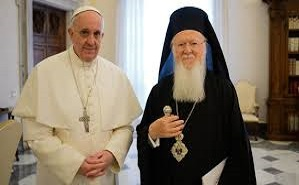Pope Francis meets with Ecumenical Patriarch Bartholomew