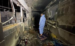 Fire at Iraqi hospital kills 82, many injured