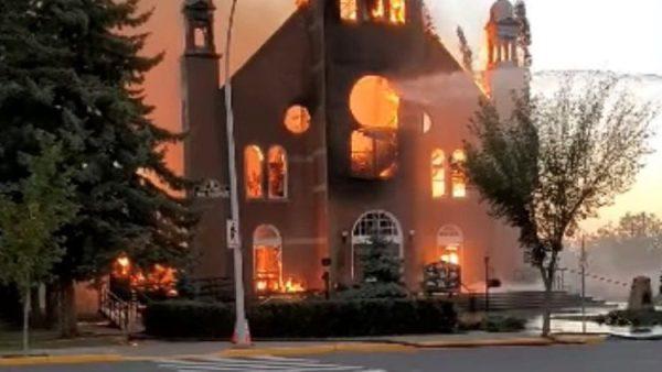 Attacks on churches continue in Canada
