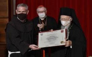 Ecumenical Patriarch receives honoris causa doctorate from Antonianum