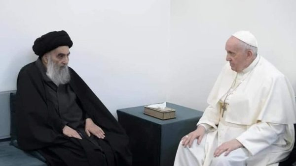 Pope stresses fraternity in meeting with Iraq`s Grand Ayatollah
