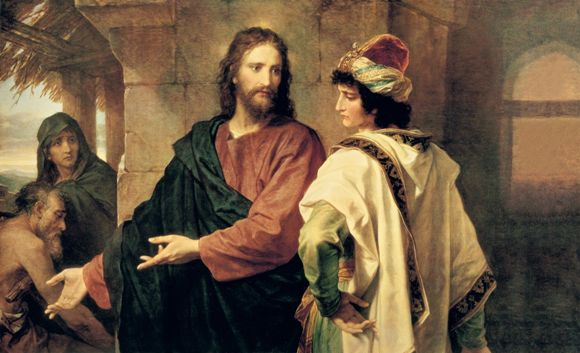 DAILY MEDITATION: ``He went away sorrowful for he was a man of great wealth``