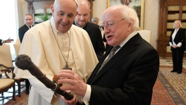 Pope receives Irish president in audience