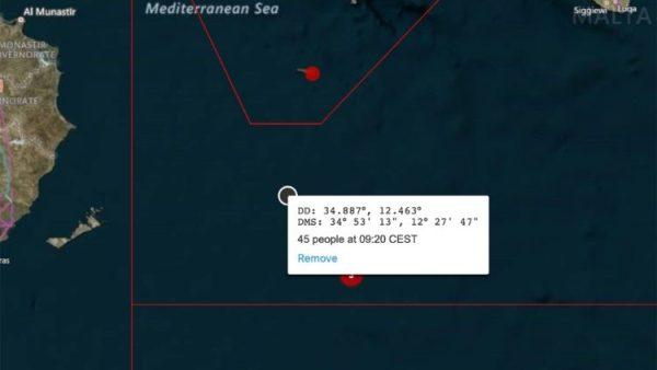 Alarm raised as migrant boat flounders in Mediterranean