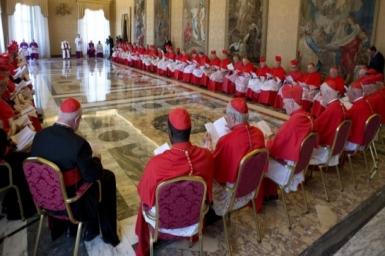 Pope Francis` letter congratulating Cardinals-designate
