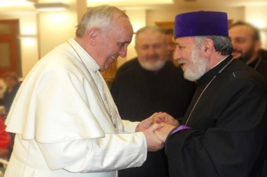Pope tells Armenian patriarch that the `ecumenism of suffering and martyrdom` leads to unity