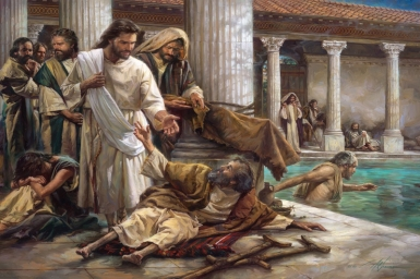 """""""Jesus saw him, and since he knew how long this man had been lying there, He said to him, 'Do you want to be healed?'"""" - Tuesday 4th of Lent"""