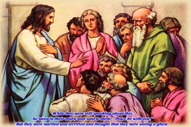 Witness of Risen Lord: 3rd Sunday `s Gospel of Easter by pictures