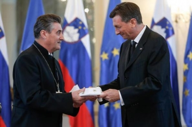Bishop Erniša Awarded State Medal of Merit for Advocating Tolerance