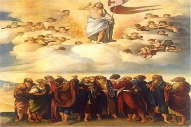 After speaking to them, the Lord Jesus was taken up into heaven : Ascension (B)