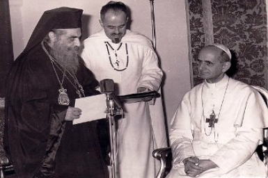 Holy Father recalls Ecumenical initiatives of Patriarch Athenagoras, and of Popes John XXIII and Paul VI