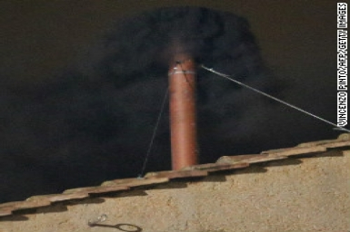 Conclave: Black smoke at ballot I