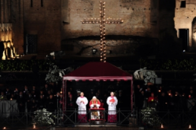 Pope Benedict XVI at the Stations of the Cross