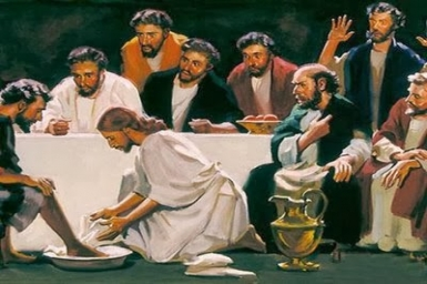 After Jesus had washed the feet of the disciples...: Thursday 4th of Easter (Apr. 30th)
